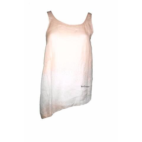 Eileen Fisher Women's Sleeveless Scoop Neck Albst Pink Tank Top (XXS)