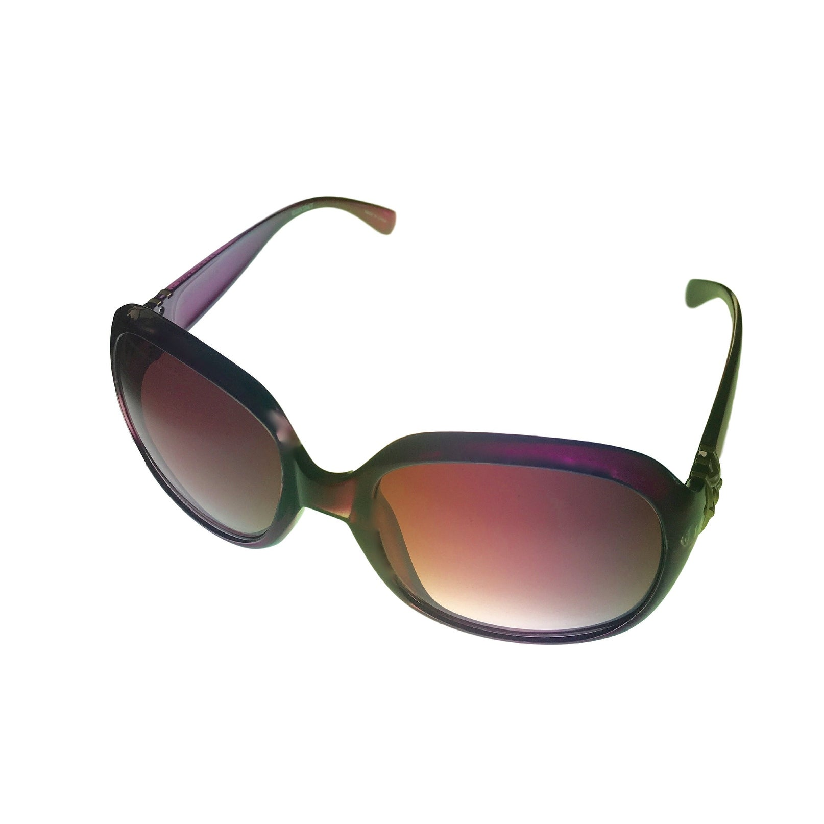 Ellen Tracy Womens Sunglass 513 3 Purple Square Plastic,Gradient Lens - Thumbnail 0