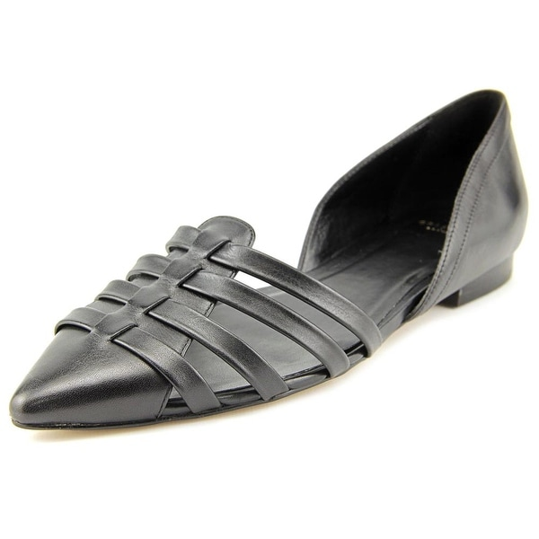 Cole Haan Jitney Flat Women Pointed Toe Leather Black Flats