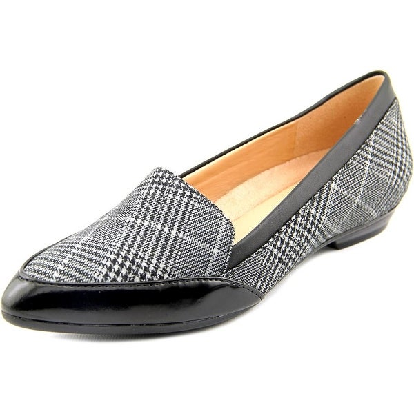 Naturalizer Peace Women Pointed Toe Canvas Gray Loafer