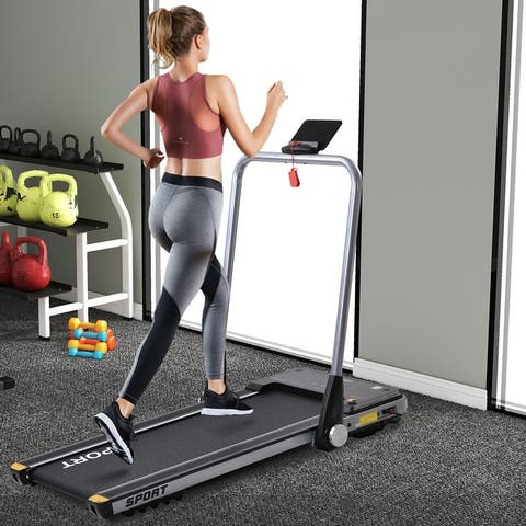 AOOLIVE 2.5HP Horizontally Foldable Electric Treadmill Motorized Running Machine With Bluetooth APP