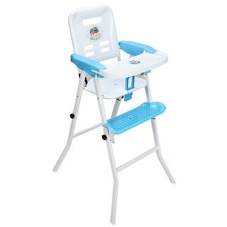 Costway Baby High Chair Detachable Rocking Infant Toddler Feeding Booster Safety Blue