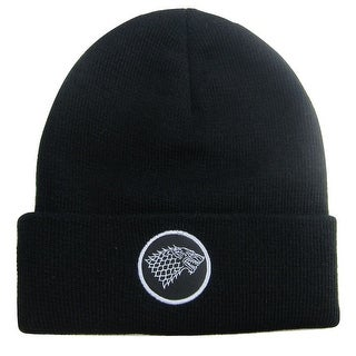 Game of Thrones Stark Sigil Cuff Beanie Hat Black