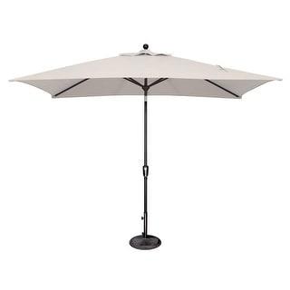 Link to SimplyShade Catalina 6'x10' Rectangle Push Button Tilt Umbrella, Black Frame Finish Similar Items in Patio Umbrellas & Shades