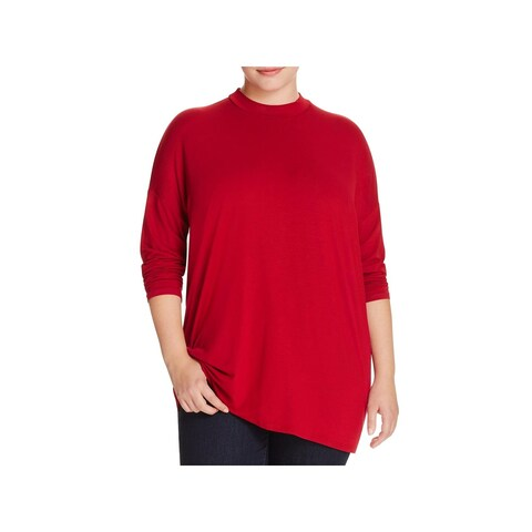 Eileen Fisher Womens Plus Casual Top Lightweight 3/4 Sleeves