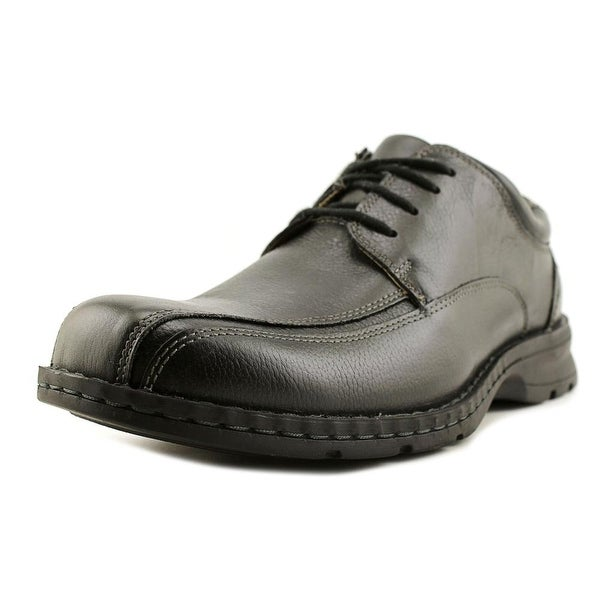 GH Bass & Co Lawrence Men Square Toe Leather Black Oxford