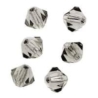 Preciosa Czech Crystal 4mm Bicone Beads 'Black Diamond' (50)