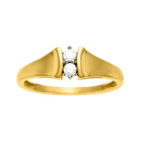 1/10 ct Diamond Duo Ring in 14K Gold
