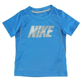 Nike Baby Boys Legacy Short Sleeve Shirt Blue - Blue/Grey - 3t