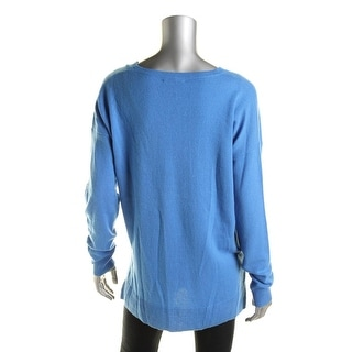 Aqua Womens Cashmere Knit Pullover Sweater