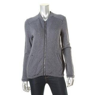 Tommy Hilfiger Womens Shimmer Front Zip Athletic Jacket