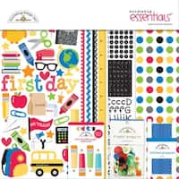 """Doodlebug Essentials Page Kit 12""""X12""""-Back To School"""