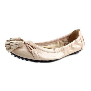 Tod's Ballerina Dee Laccetto Nappine Round Toe Synthetic Ballet Flats