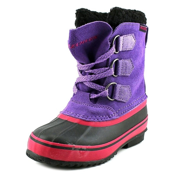 Skechers Girl Lil Blizzards Youth Round Toe Suede Winter Boot