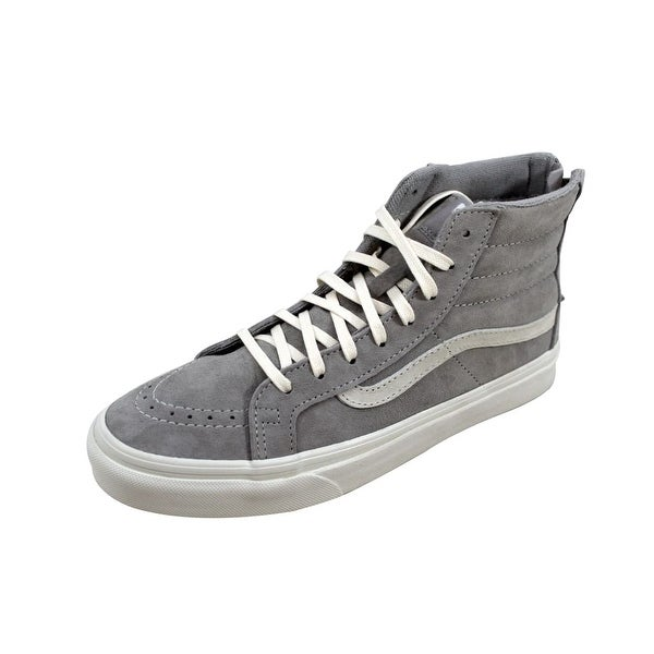 fa72606527 Shop Vans Men s SK8 Hi Slim Zip Cool Grey Scotchgard VN000XH8JV9 ...
