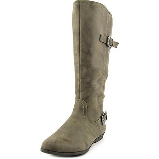 White Mountain Finalist Women Round Toe Synthetic Gray Knee High Boot