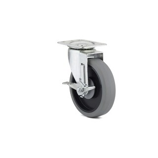 Richelieu F25371 295 lb. Maximum Weight Capacity Commercial Grade Swivel Mount Caster with Brake