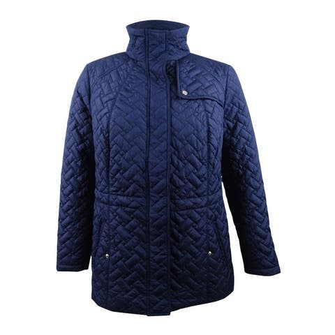 Charter Club Women's Plus Size Quilted Jacket (0X, Intrepid Blue) - Intrepid Blue - 0X