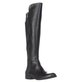 Bandolino Camme Wide Calf Turlock Boots, Black/Black