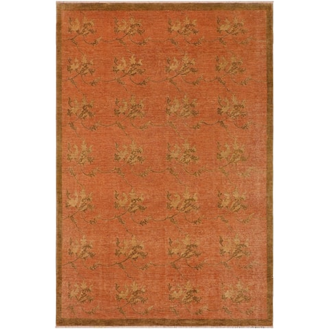 "Modern Janie Lt.red/Brown Wool Rug - 8'11 x 11'11 - 8'11"" x 11'11"" - 8'11"" x 11'11"""