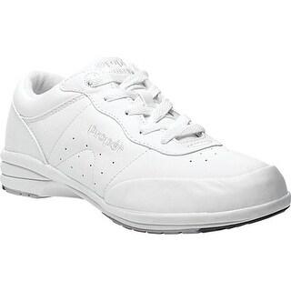Propet Women's Slip-Resistant Washable Walker White Full Grain Leather