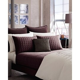 Kenneth Cole Reaction Landscape burgundy velvet Full-Queen coverlet quilt cotton