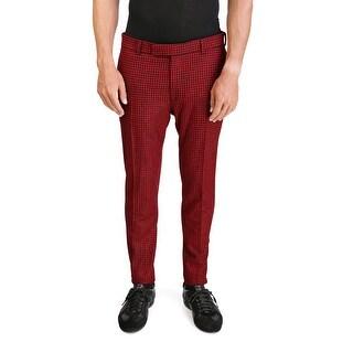 Dior Homme Men's Plaid Trouser Pants Red - 34
