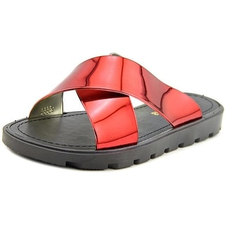 Electric Karma Bickle Women Open Toe Synthetic Red Slides Sandal