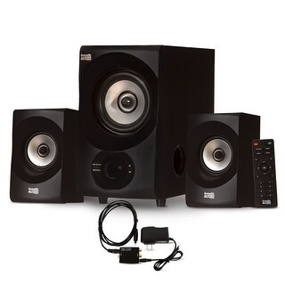 Acoustic Audio AA2171 Bluetooth 2.1 Home Speaker System & Digital Optical Input