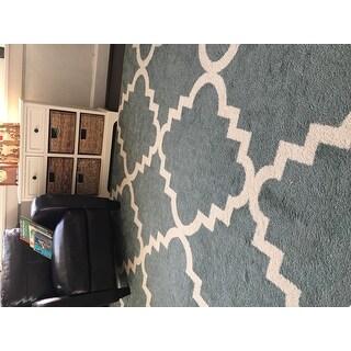 Well Woven Modern Geometric Trellis Area Rug (7'10 x 10'6)