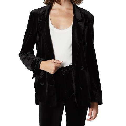 Blank NYC Black Women's Size Medium M Velvet Grand Dame Jacket