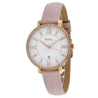 Fossil Women's Jacqueline ES4303 White Dial watch
