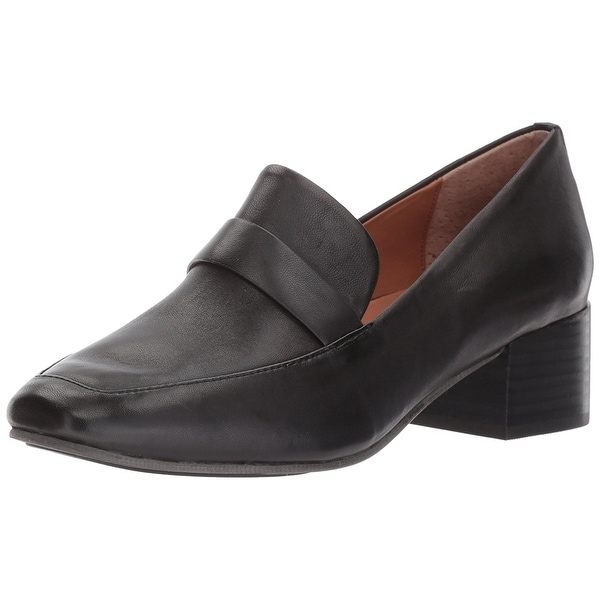 Gentle Souls Women's Eliott Menswear Inspired Dress Block Heel Loafer - 6.5
