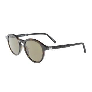 Montblanc MB608S/S 52J Havana Round Sunglasses - 60-18-135