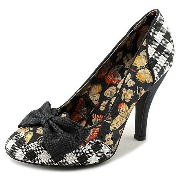 Mojo Moxy Bashful Women Round Toe Canvas Black Heels