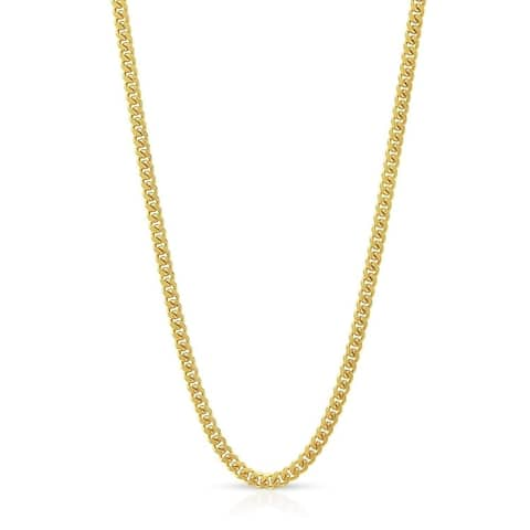 10K Yellow Gold 1.5MM Solid Miami Cuban Curb Link Necklace Chains, Gold Chain for Men & Women, 100% Real 10K Gold