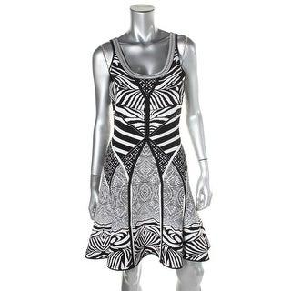 Diane Von Furstenberg Womens Printed Fit & Flare Tank Dress