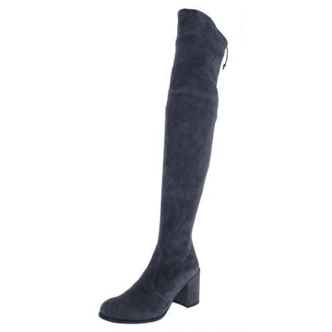 Stuart Weitzman Womens Tieland Thigh-High Boots Suede Block