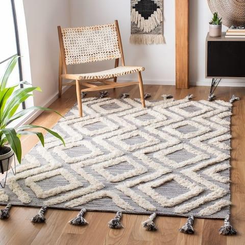SAFAVIEH Handmade Kenya Shouko Moroccan Tribal Wool Rug