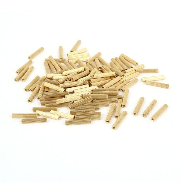 Unique Bargains 100pcs M2x17mm Hollow Pillar Column Ferrule Cylinder Brass Standoff Spacer