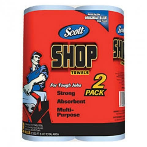 Scott 75040 Shop Towels, 55 Sheets, 2-Pack