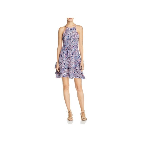 Parker Womens Dax Special Occasion Dress Printed Mini