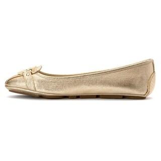 MICHAEL Michael Kors Womens Fulton Moc Leather Square Toe Slide Flats