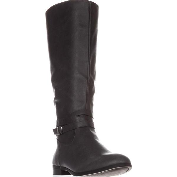 SC35 Keppur Flat Riding Boots, Dark Grey