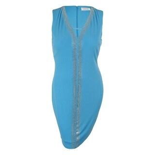 Calvin Klein Women's Sleeveless Rhinestone Dress