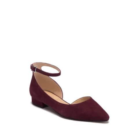 Franco Sarto Womens Slide Fabric Pointed Toe SlingBack Slingback Flats