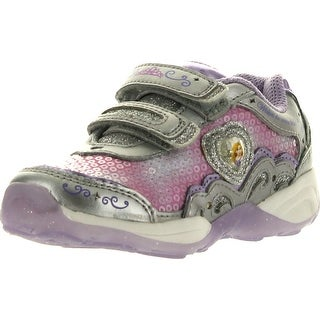 Stride Rite Girls Disney Wish Lights Rapunzel Mj Sneaker - silver/pink/purple