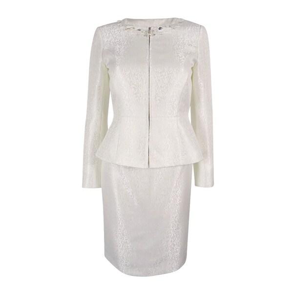 63547a369e Shop Tahari ASL Women's Beaded Skirt Suit Set - Pearl White - Free ...
