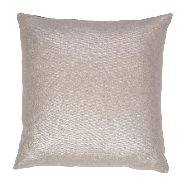 """18"""" Silver Metallic Solid Square Decorative Throw Pillow"""