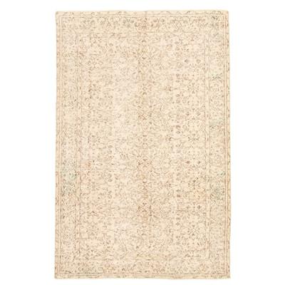ECARPETGALLERY Hand-knotted Antalya Vintage Cream Wool Rug - 9'1 x 5'11
